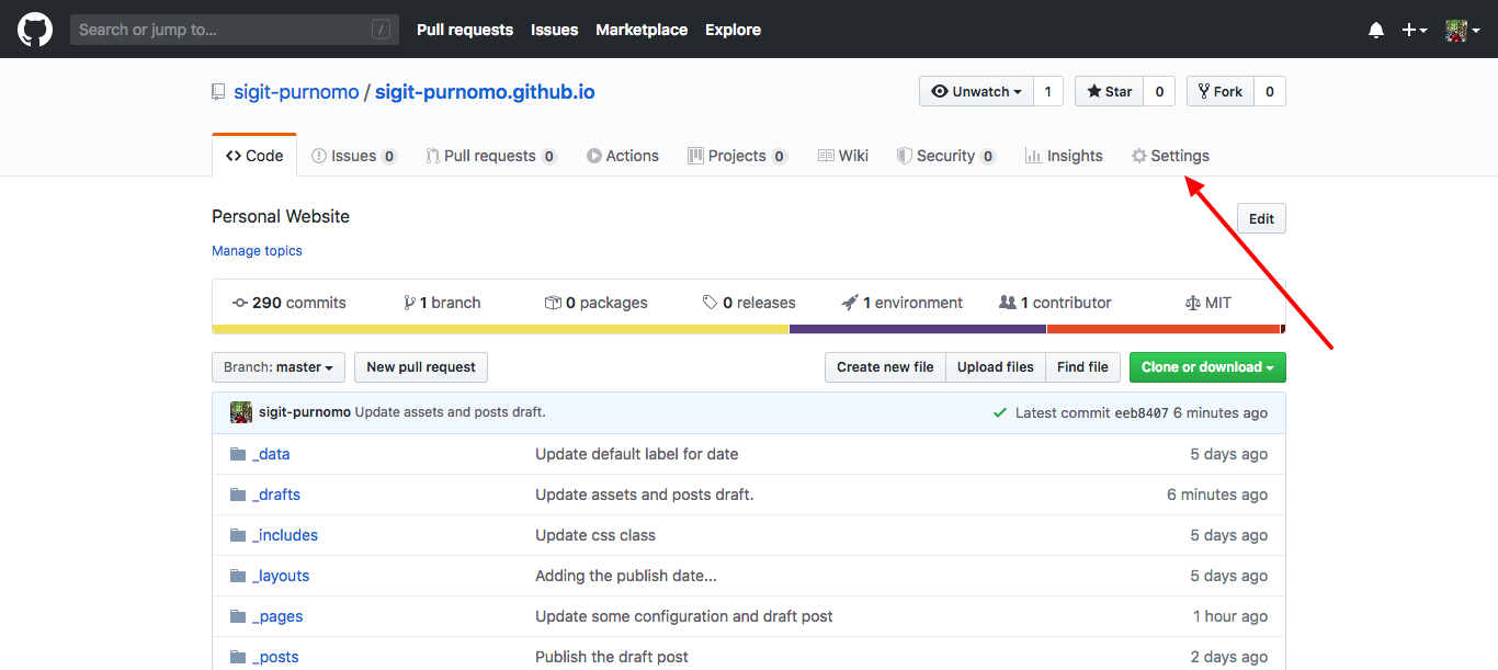Github New Repository Settings